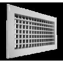 Алюминиевая настенная двухрядная решетка